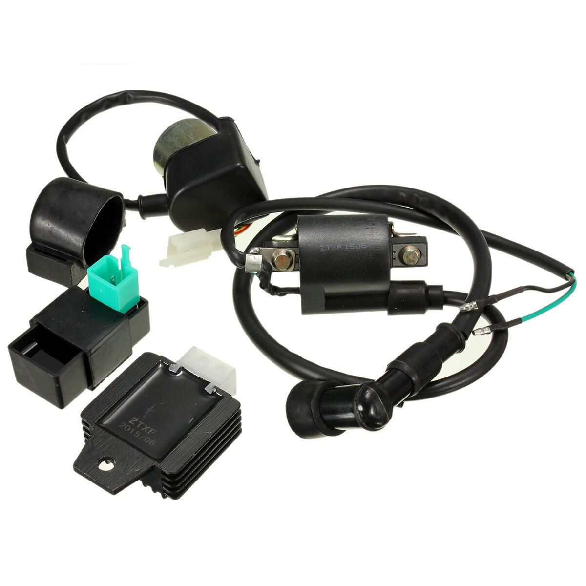 Ignition Coil CDI Box Regulator Rectifier Starter Relay For 110cc 125cc ATV QUAD