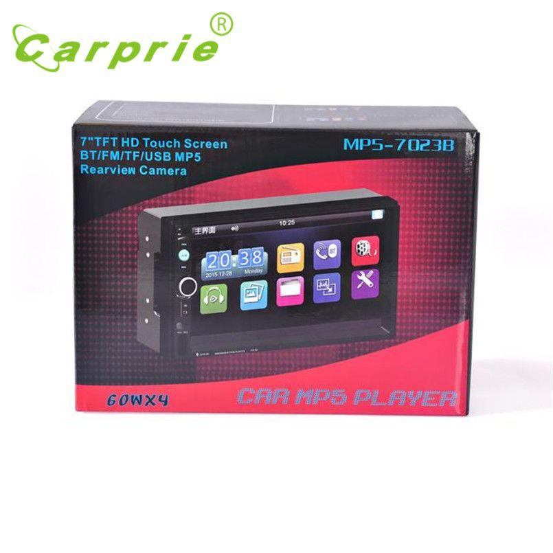 Bluetooth стерео аудио в тире AUX Вход приемник SD/USB MP5 плеер автомобиль-Стайлинг black7inc Сенсорный экран микрофон авто