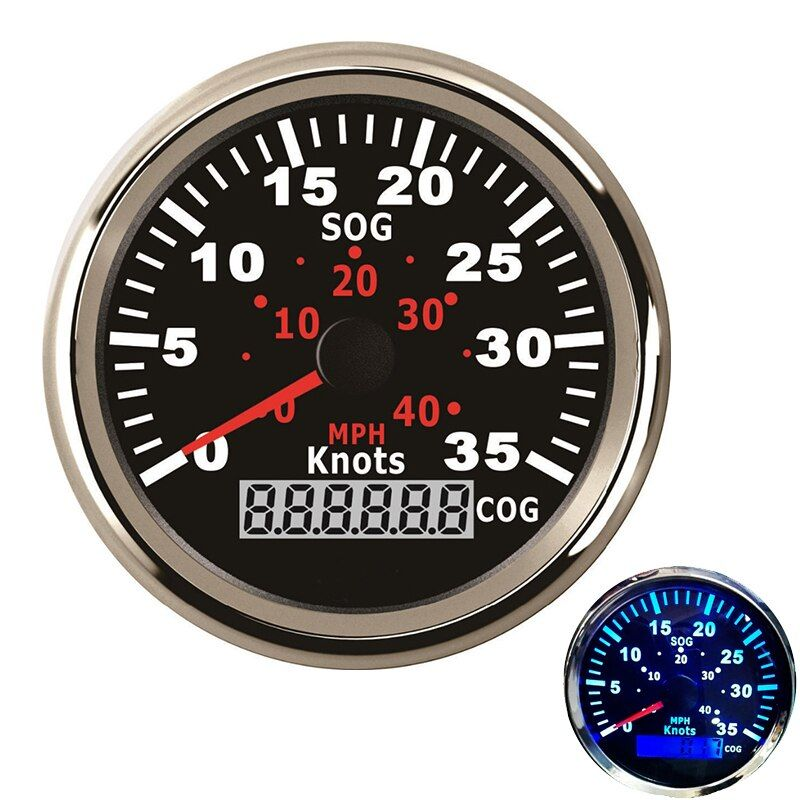 12V / 24V 85mm GPS Speedometer Waterproof For Car Motorcycle Boat Yacht Vessel with Blue Backlight