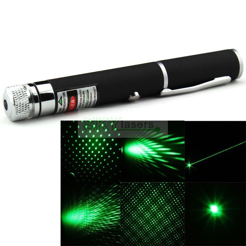 2016 NEUESTE ART 2 in 1 5 mw 532nm Mini grünen laser pointer mit sternkopf/laser kaleidoskop licht + free verschiffen