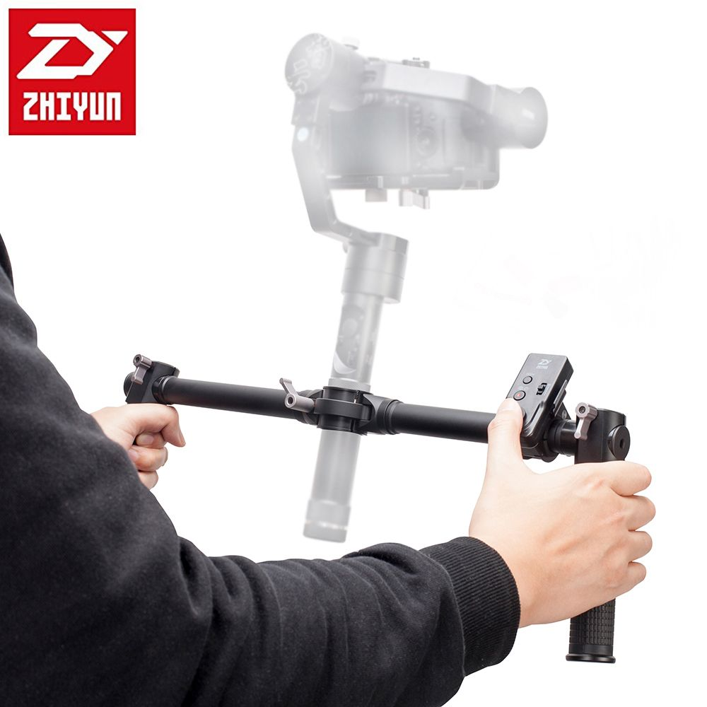 Zhiyun двойной ручной сцепление для Zhiyun кран-M 3 оси Ручные стабилизаторы стабилизатор + Zhiyun zw-b02 Беспроводной удаленного контроллер