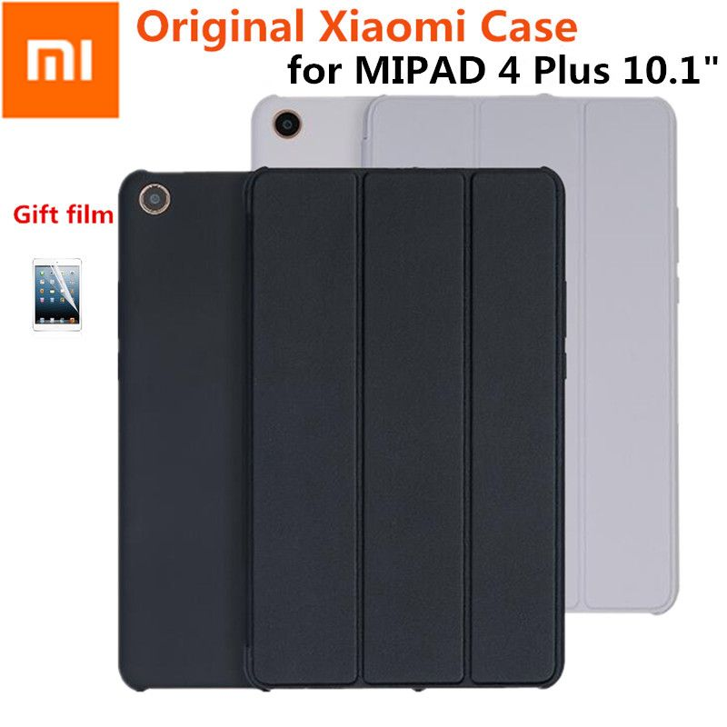 Schlank Original Xiao mi mi pad 4 plus 10,1 Smart Magnet mi Pad4 mi pad 4 plus 10 Fall capa De Couro PU + PC Wake Auto-Schlaf Abdeckung + Film
