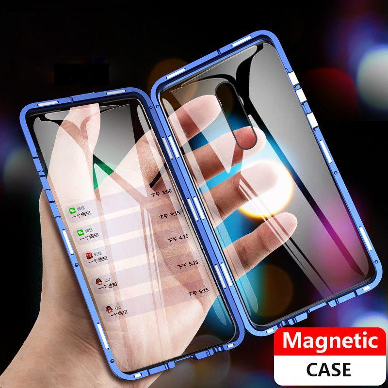 Étui magnétique 360 Xiaomi mi 9t étui en verre avant 9t Pro Xiaomi redmi K20 Pro étui en verre trempé