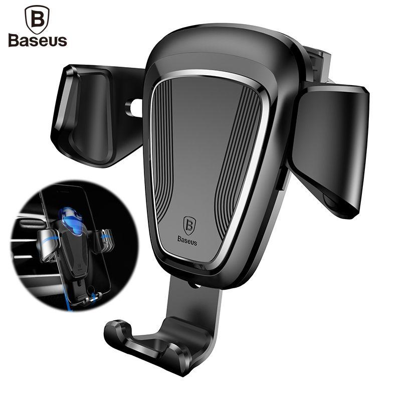 Baseus Smartphone Support De Voiture Pour iPhone X 8 Samsung S9 S8 Air Vent Mount Mobile Phone Holder Support De Fixation Voiture support Pour Téléphone