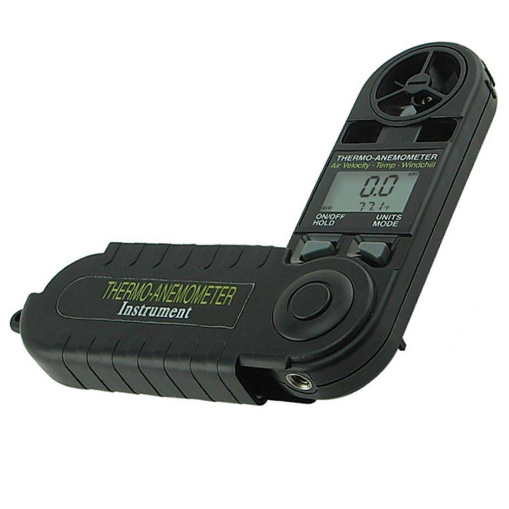 Digitale 3-in-1 Tasche Thermo Anemometer Temperatur Gefühlte Luftgeschwindigkeit Beaufort Kraft Wetter Meter