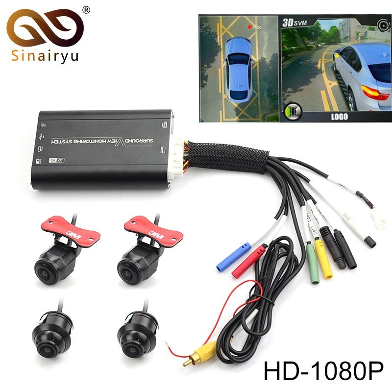 360 Degree Surround View Monitoring Panoram System with Front Rear Left Right Camera Bird View Parking Car DVR Universal