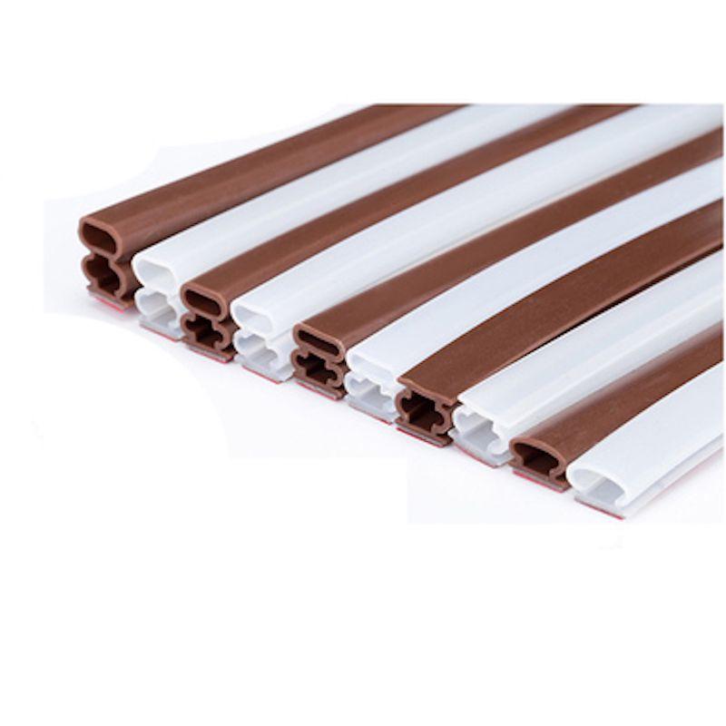 Porte D'entrée principale Joints Silicone Adhésif Bande D'étanchéité Joint 10x6mm 8mm 10mm 12mm 15mm 20mm 6 m Marron Blanc