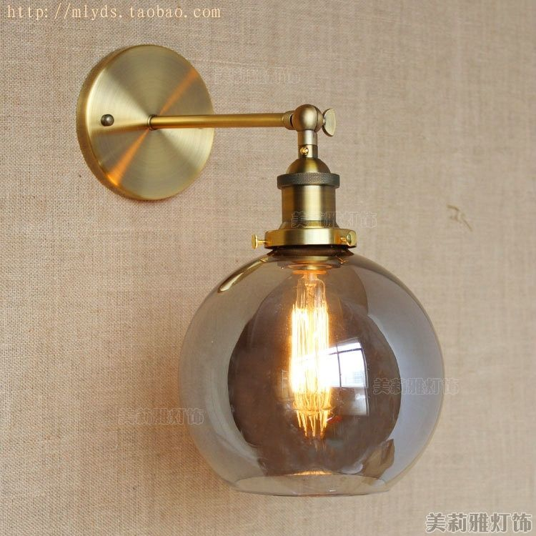 Brass Retro Industrial Wall Lamp Vintage Fixtures LED Stair Light Loft Style Edison Wall Sconce Lampen appliques Murale Pared