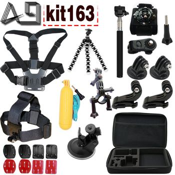 A9 For Gopro accessories set go pro kit mount SJCAM go pro Xiaomi Yi for Sony Act Cam HDR AS200V AS100V AZ1 mini FDR-X1000V/W 4k