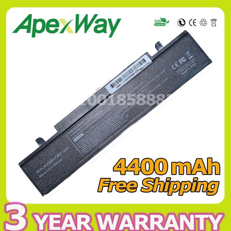 Apexway <font><b>4400mAh</b></font> RV520 Battery for Samsung AA-PB9NC6B AA-PB9NC5B AA-PB9NS6W NP300E5A RF511 R425 R519 R468 RV428 RC530 np355v5c