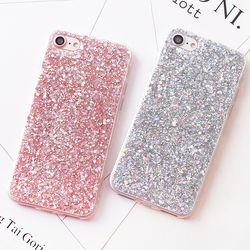 Lujo shinning Glitter Carcasas para iPhone 6 6 S 8 más x 5SE 5 5S suave del teléfono del corazón del amor del silicón TPU capa fundas para iPhone 7 7 más
