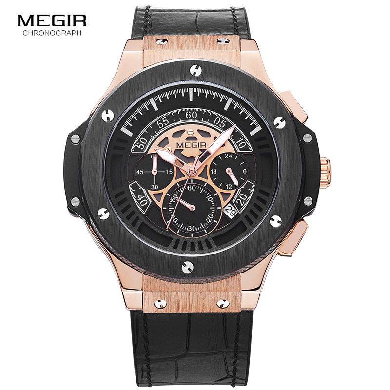 Relogio Masculino 2016 Megir Chronograph Watch Men Famous Brand Watches Army Sport Male Men Wrist Watch For Man Erkek Kol Saati