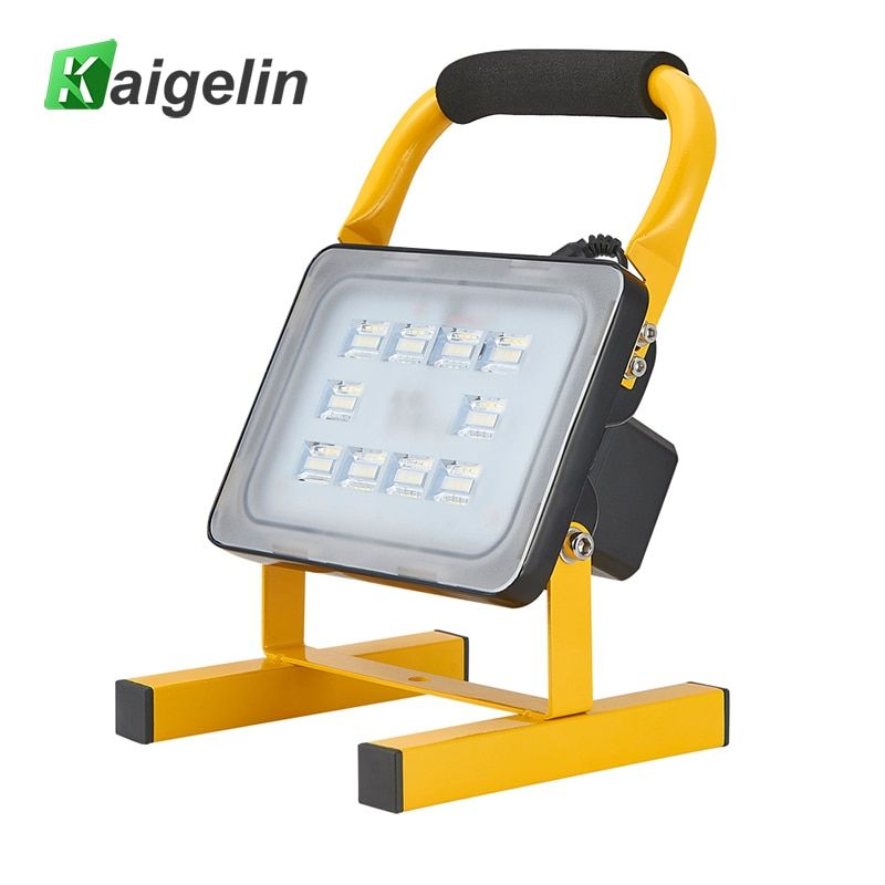 20W Waterproof Rechargeable LED Flood Light Portable Spotlight Changing Floodlight Emergency Outdoor Camping Car Work Lighting