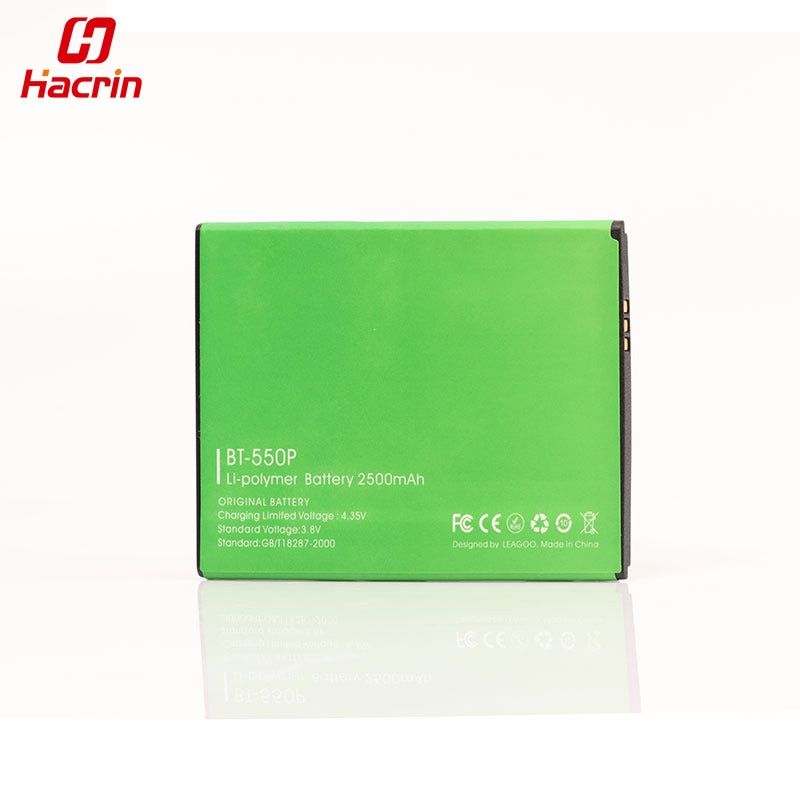 hacrin LEAGOO LEAD 1 Battery BT-550P Large 2500Mah Battery For Leagoo Lead 1i Cell Phone - In Stock