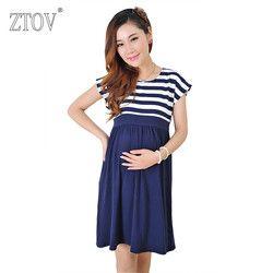 Ztov mujeres largo Vestidos Maternidad vestido de enfermería para las mujeres embarazadas embarazo mujeres ropa de vestido de madre inicio ropa l/ XL/XXL