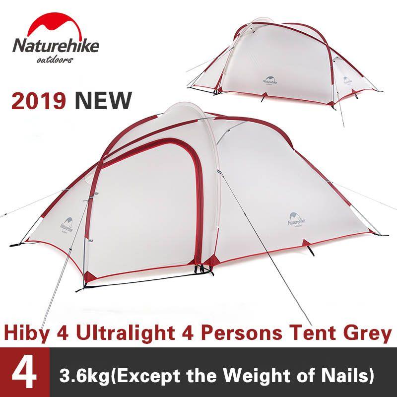 Naturehike Zelt 2019 Neue Hiby Serie Camping Zelt 20D Silikon Stoff Außen 3-4 Personen Ultra-licht 4 saison Familie Zelt