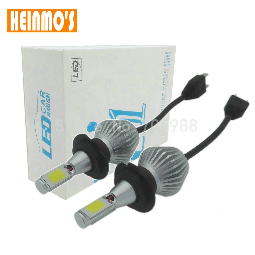 2 pcs 36 W 12 V COB Led Faisceau Feux De Remplacement de jour DRL brouillard Phare Conversion kit Ampoule H1 H3 H4 H7 H8 H11 9006