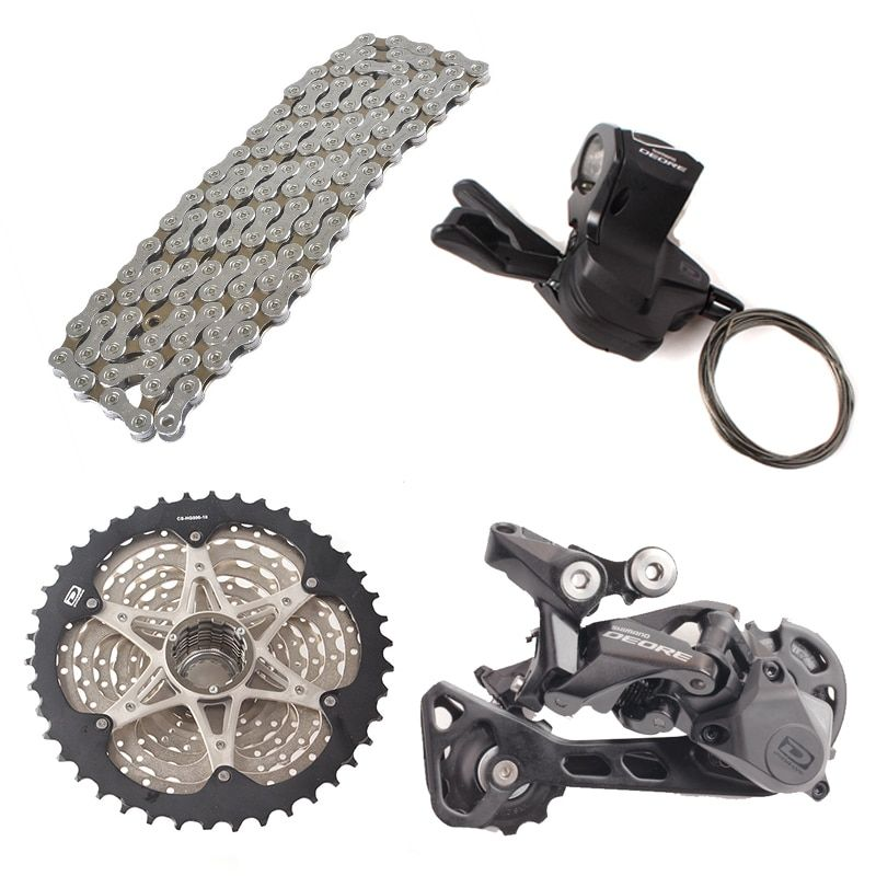 SHIMANO DEORE M6000 1x10 10S Speed 11-42T/36T Groupset Contains Shifter Lever & Rear Dearilleur & Cassette & Chain