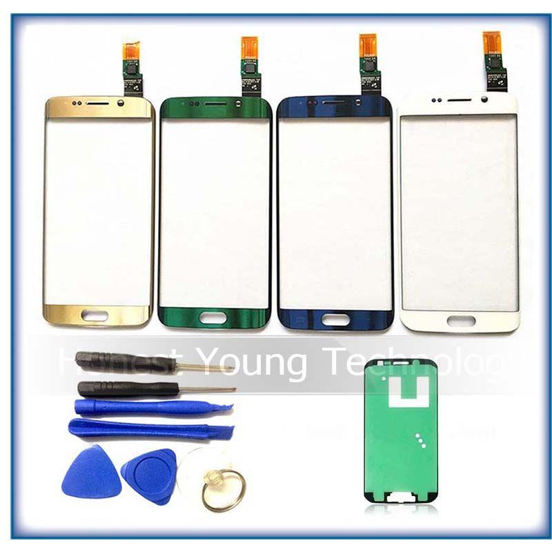 Ekvinor Hohe qualität Touch Screen panel Für Samsung-galaxie S6 Rand G925 G925F Touchscreen Digitizer Glasscheibe + werkzeuge + aufkleber