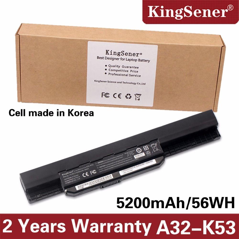 Korea Cell KingSener New A32-K53 Battery for ASUS K43 K43E K43J K43S K43SV K53 K53E K53F K53J K53S K53SV A43 A53S A53SV 5200mAh