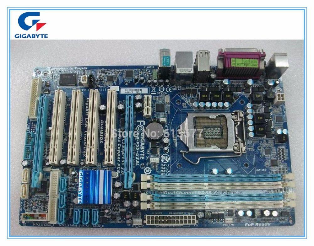 Livraison gratuite origine carte mère Gigabyte GA-P55-UD3L LGA 1156 DDR3 P55-UD3L conseils 16 GB P55 De Bureau carte mère