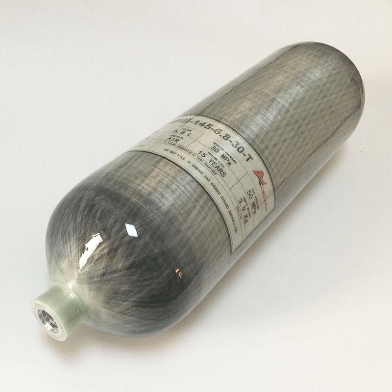 Quality Assured SCUBA Cylinder Carbon Fiber 6.8L Water Capacity 4500Psi M18*1.5 Thread -v