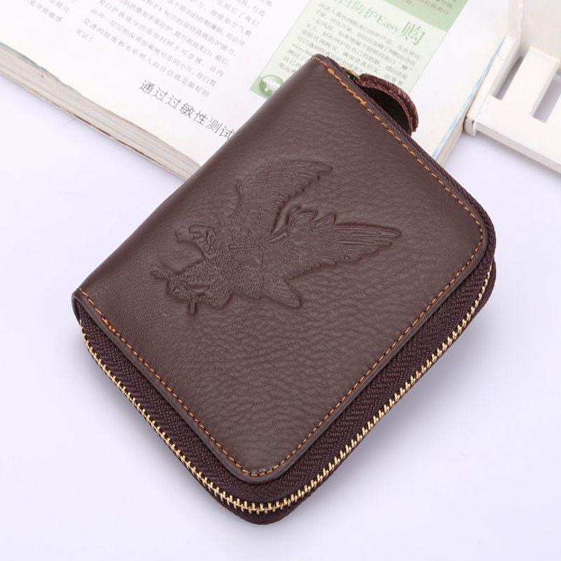 <font><b>JUST</b></font> LUCK MORE2016 New Hot High Quality Genuine Leather Wallet Men Wallets Vintage Organizer Purse Billfold Zipper Coin Pocke