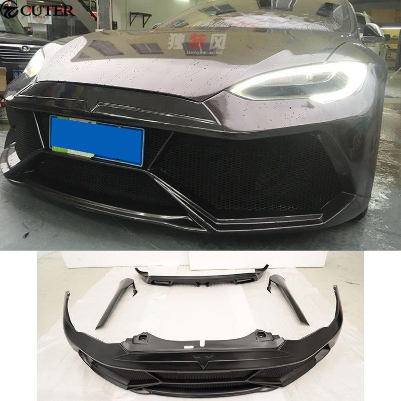 MODELL S FRP Auto Bodykits Frontschürze Seite Röcke Hinteren Stoßfänger Für Tesla MODEL S 2014 2015