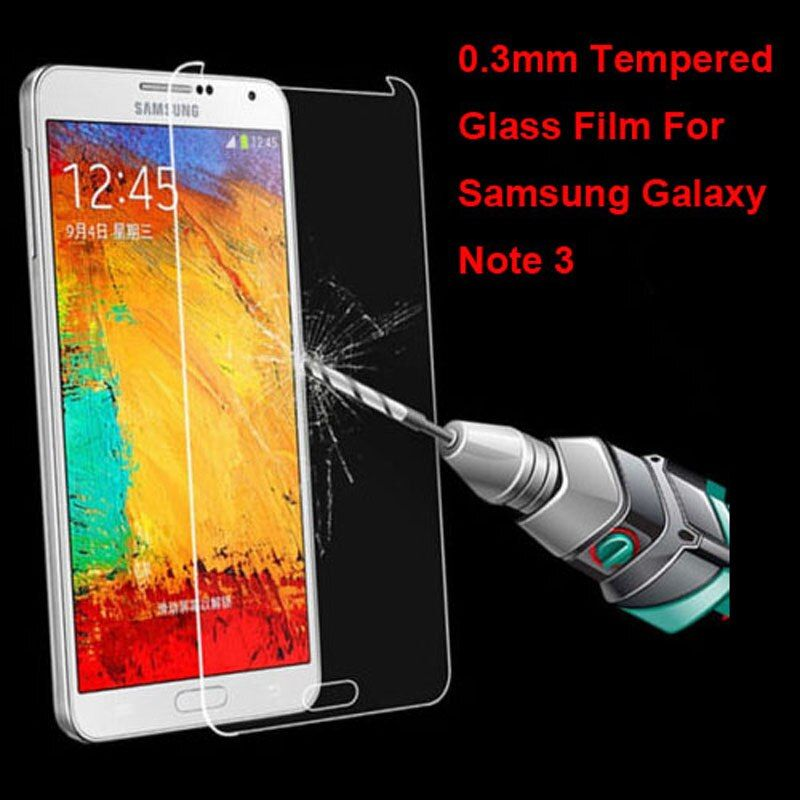 New Genuine Explosion Proof Tempered Glass Protective Film Screen Protector for Samsung Galaxy Note 3 N9000 Note III