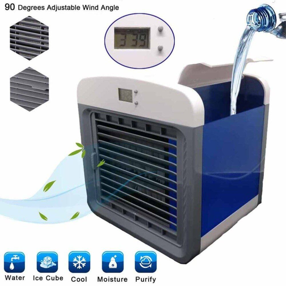 Convenient Air Cooler Portable Fan Digital Air Conditioner Humidifier Space Easy Cool Purifies Cooler for Home Office