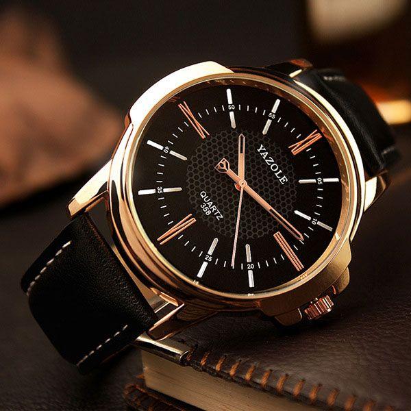 Rose Gold Wrist Watch Men 2017 Top Brand Luxury Famous Male Clock Quartz Watch Golden Wristwatch Quartz-watch Relogio Masculino
