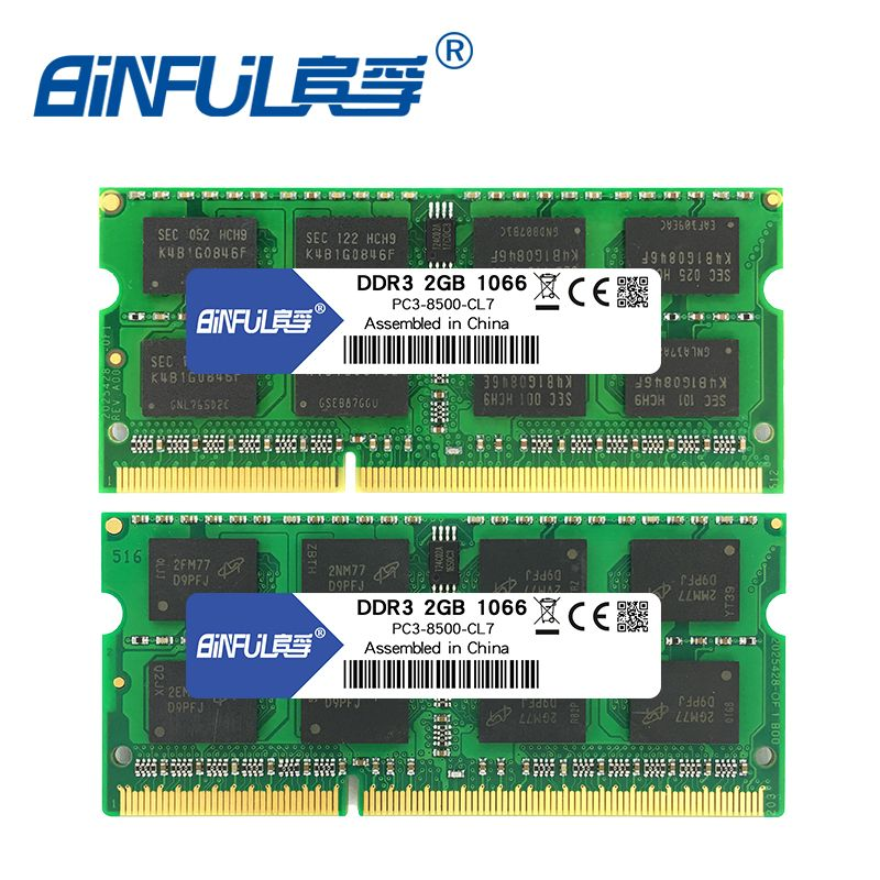 BINFUL Brand New Sealed DDR3 2GB 4GB 1066mhz 1333 1600 PC3-12800/8500/10600 Laptop RAM <font><b>Memory</b></font> /Lifetime warranty Free Shipping