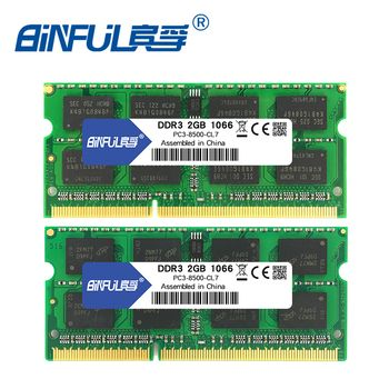 BINFUL Brand New Sealed DDR3 2GB 4GB 1066mhz 1333 1600 PC3-12800/8500/10600 Laptop RAM Memory /Lifetime warranty  Free Shipping