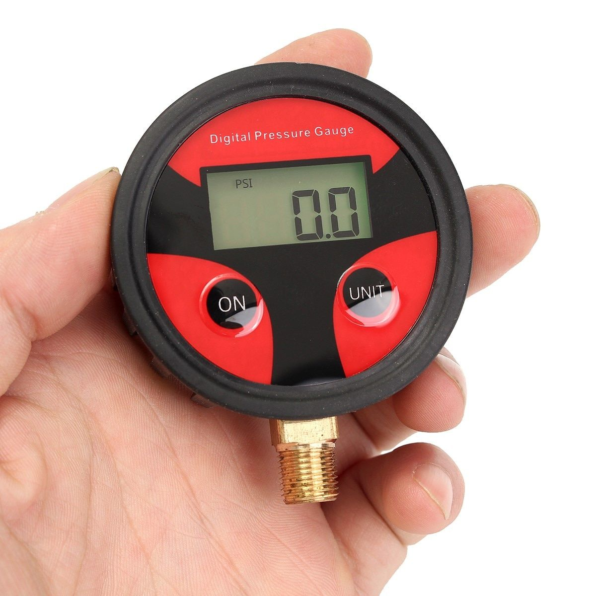 NPT1 / 8 Thread Auto Motorcycle Car Cycle Truck Tire LCD Digital Pressure Gauge For PSI BAR KPA KGF