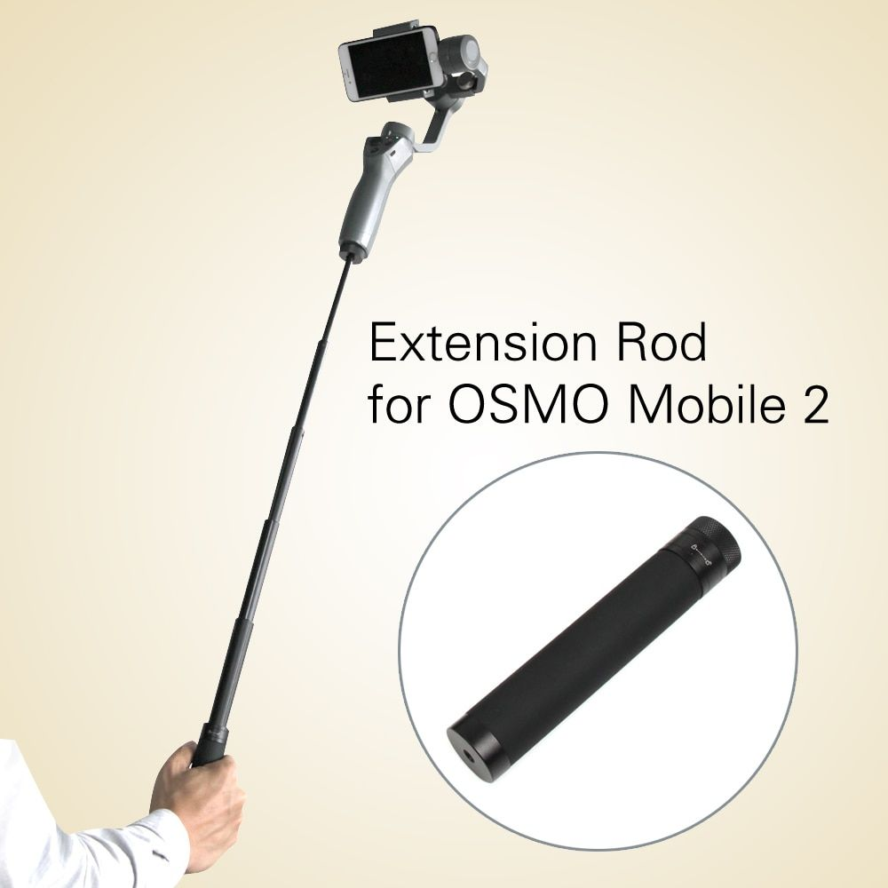 Extension Stick Rod pole Scalable Holder for DJI OSMO Mobile 2/zhiyun smooth Q 4 Handheld Smartphone Gimbal Accessories