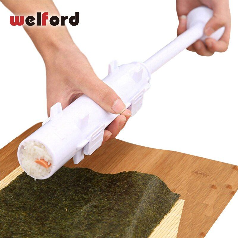 Welford rouleau Sushi fabricant rouleau moule faisant Kit Sushi Bazooka riz viande légumes bricolage faisant des outils de cuisine Gadgets accessoires