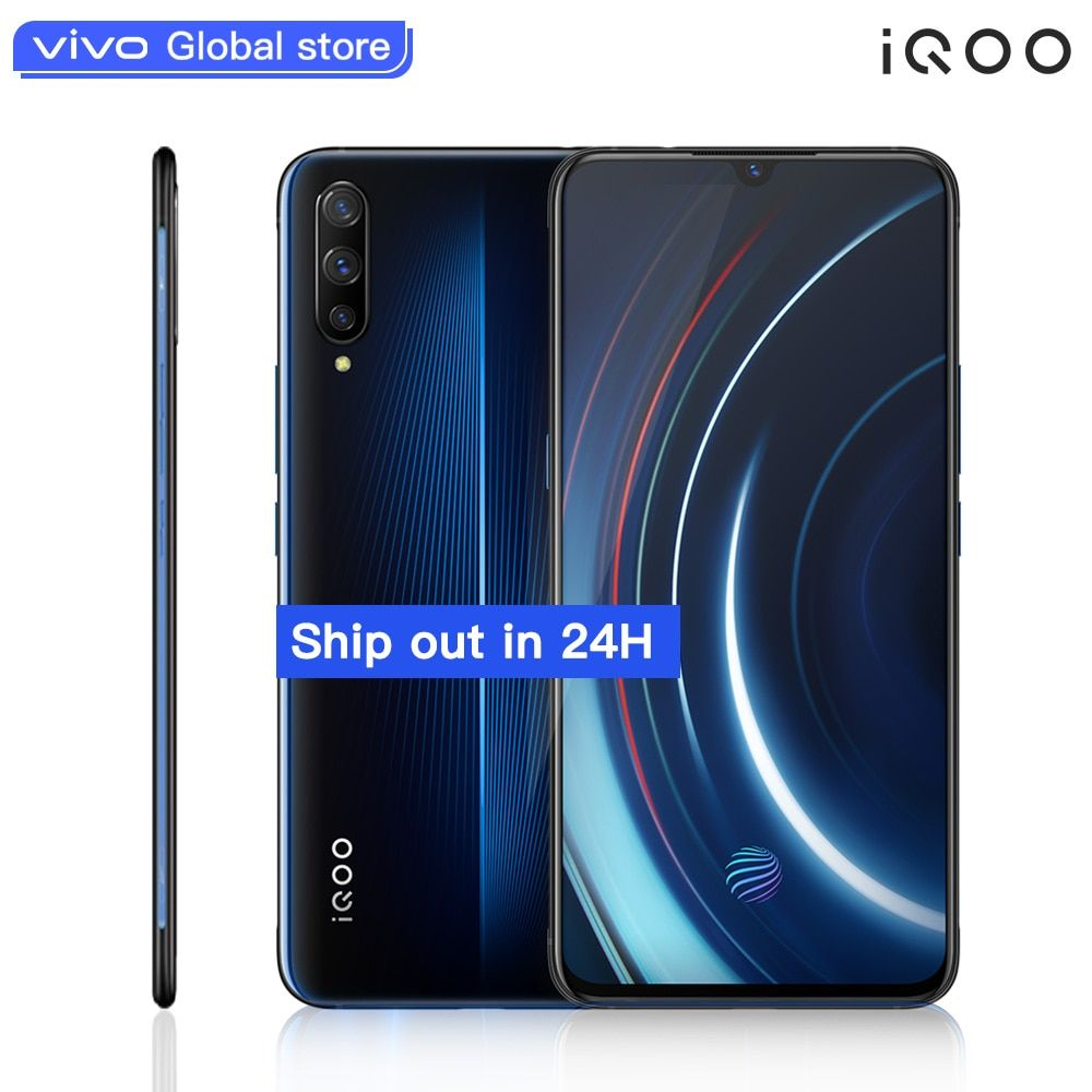 Original vivo iQOO Handy 6,41 6 GB 128 GB Snapdragon Octa Core Dual Kameras 12MP + 13MP Android 9 4000 mAh 44 W NFC Smartphone