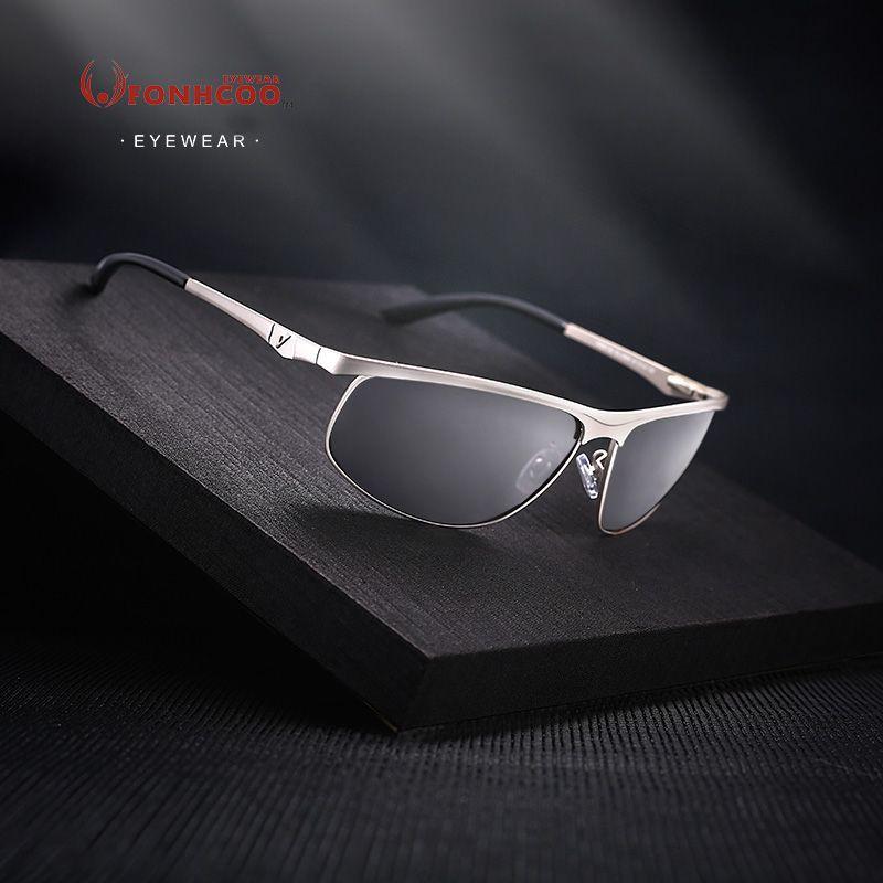 FONHCOO 2017 marque Designer rayons chauds lunettes De soleil nouvelle mode lunettes De soleil hommes pilote lunettes polarisées UV400 lunettes Oculos De Sol