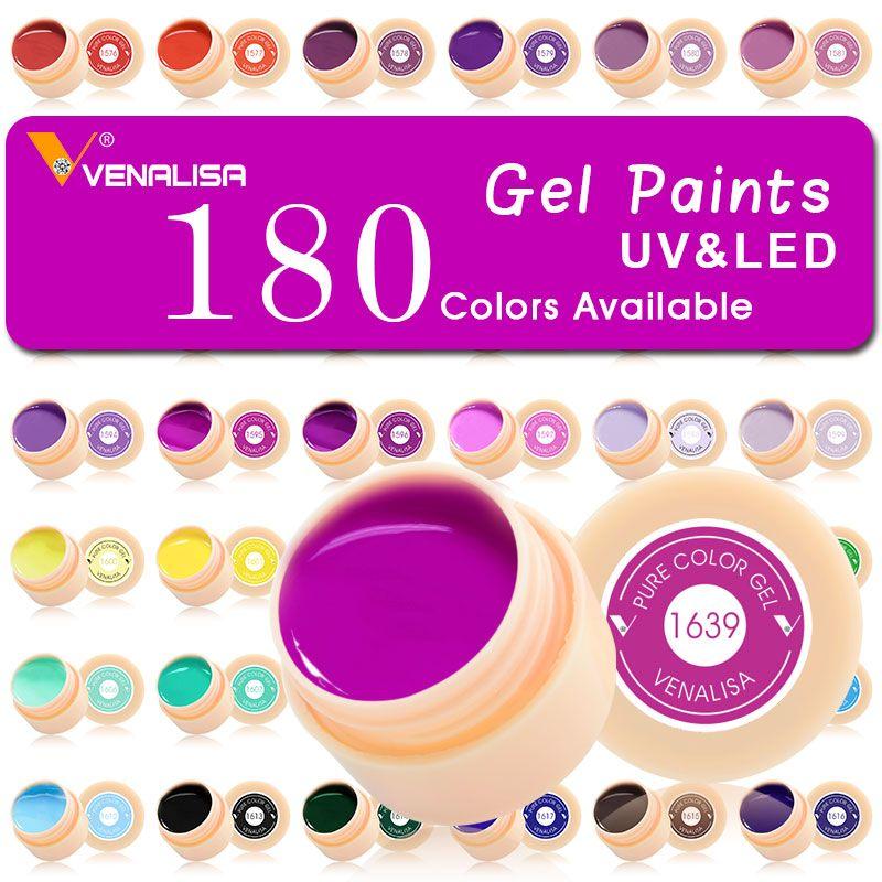 #50638 180 farben/set Nail art Lack Gel CANNI Fabrik Reine Farbe DIY Dekoration glitter pulver Malerei LED & UV farbe Gel