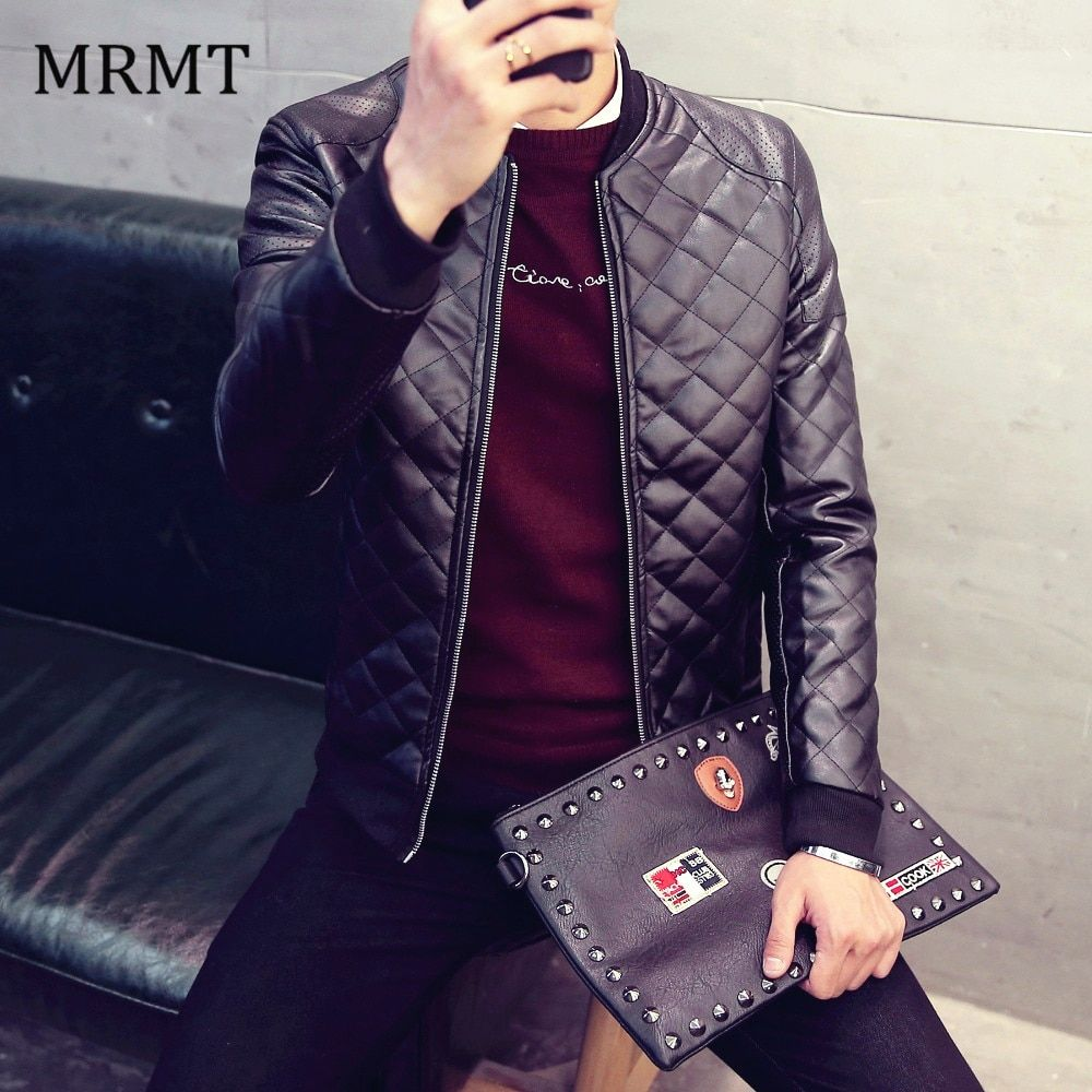 2018 Brand New Leather Clothing Mens Jacket Coat Fall Winter Biker Bomber male Jacket thin men's Jackets Men PU Warm coats