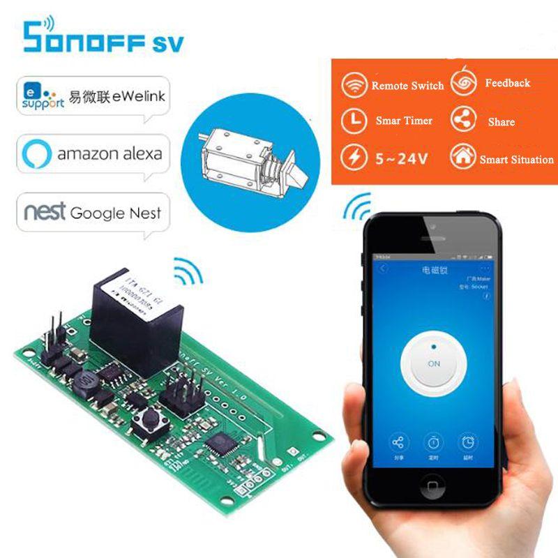 Itead Sonoff SV WiFi commutateur intelligent sans fil tension sûre 5-24V DC Module domotique intelligent Support développement secondaire