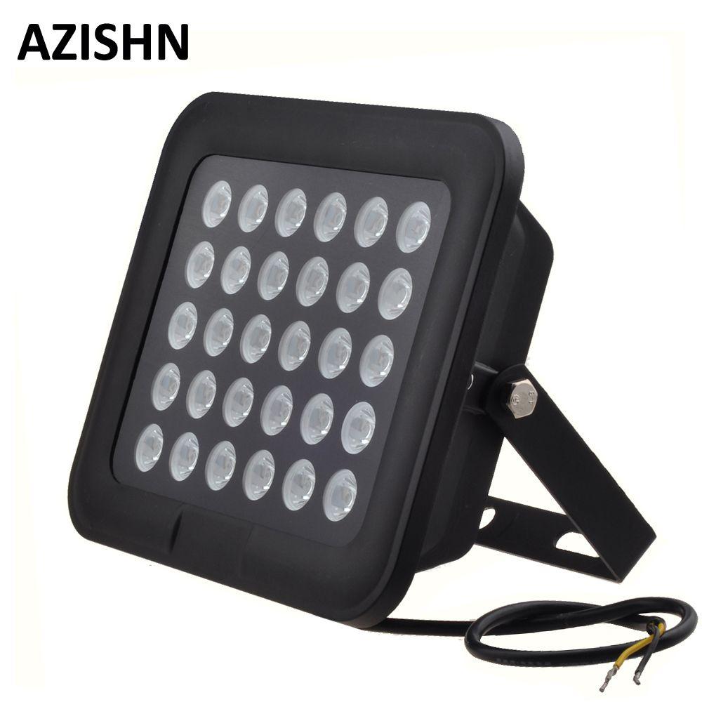 CCTV LEDS 30 unids IR Iluminador Infrarrojo de visión nocturna 850nm IP65 Impermeable del metal vidrio templado Para cámara cctv