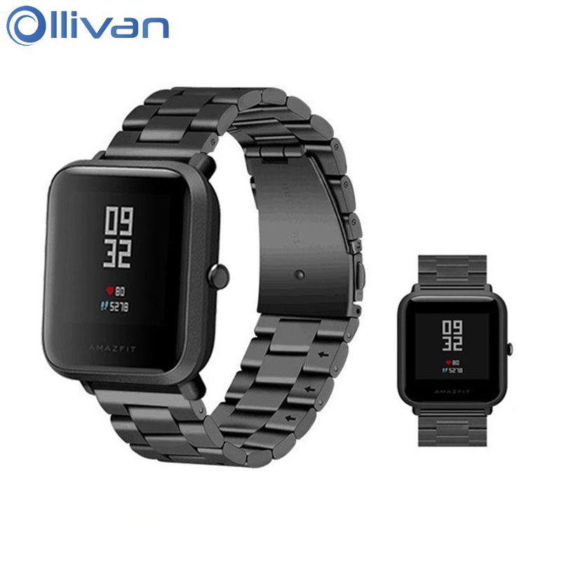Ollivan Remplacement Bracelet En Métal Pour Xiaomi Huami Amazfit Bip PEU Lite Jeunes Montre Intelligente Portable Poignet Bracelet Bracelet 20mm
