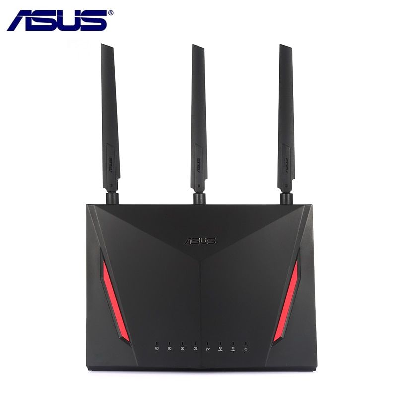 ASUS RT-AC86U 2900 Mbps Wireless Wifi Router Dual Core 512 mb RAM 256 mb ROM 1,8g Wireless AC/ g/N Wifi Router Mit Antennen