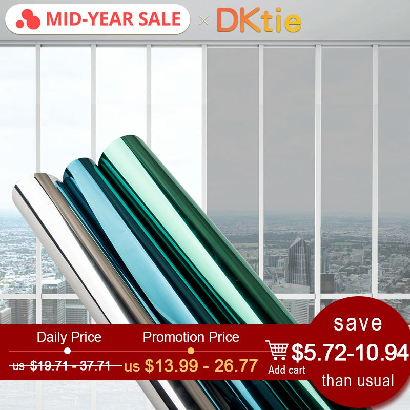 40/50/60/70/80/90 * 500 CM window film glass stickers Reflective UV Sunscreen self adhesive mirror film heat transfer vinyl
