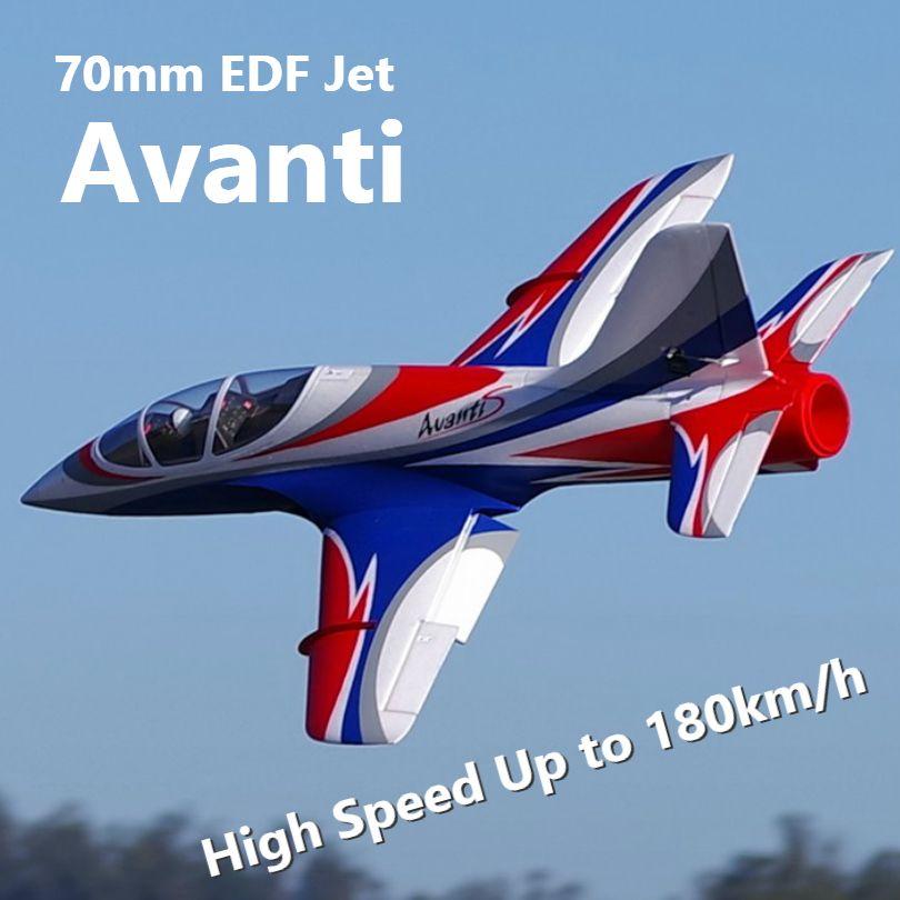FMS 70mm Impeller EDF Avanti Blau High Speed 6S 6CH mit Klappen Fährt PNP RC Flugzeug Jet sport Modell Flugzeug Flugzeug Avion