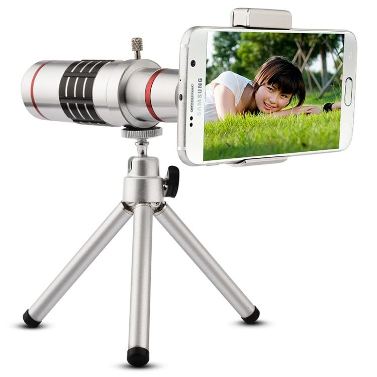 Livraison Gratuite Universal Clip Sur 18X Téléobjectif Mobile Téléphone Zoom Optique Télescope Pour l'iphone Sumgung HTC Asus JT11
