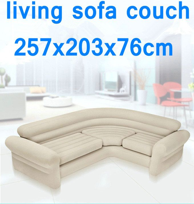 Original authentic INTEX double coupe sofa lazy inflatable sofa bed corner sunset recliner,living room air couch sofa