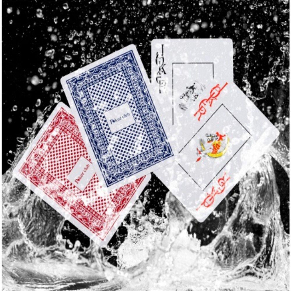 Vente chaude Durable Étanche Poker Cartes À Jouer En Plastique Poker Ensemble drôle Jeu de Société Baralho Jouet Pour Adulte Partie Jeu Aléatoire couleur