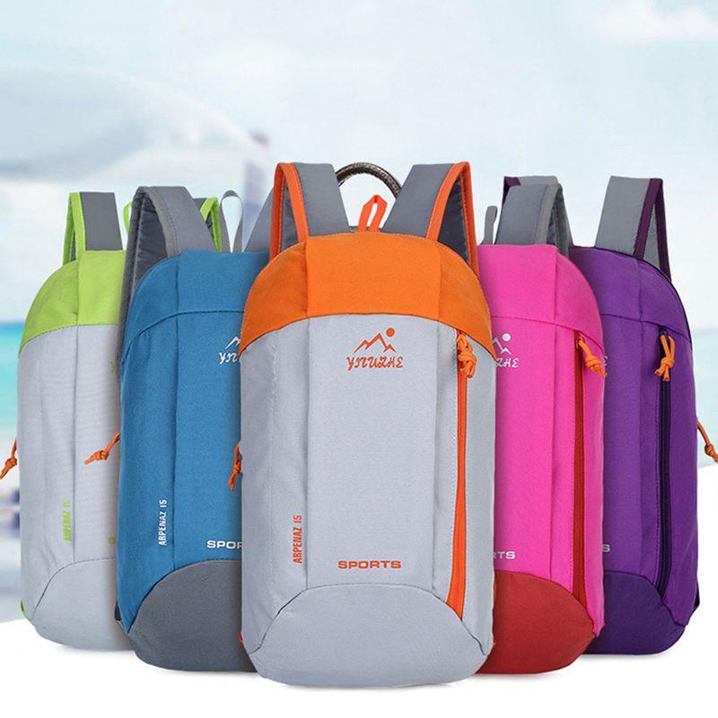Outdoor Sport Hiking Backpack Soft Light Weight 10L Knapsack Travel Waterproof Bag Zipper Adjustable Belt Camping Laptop bag
